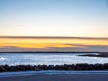 Seascapesikt i Borganes, Island royaltyfri foto