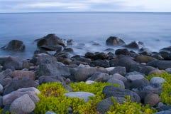 seascapesolnedgång Fotografering för Bildbyråer