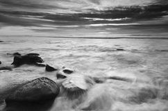 Seascaping in Black N White-1 Royalty Free Stock Photos