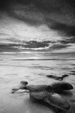 Seascaping in Black N White-3 Royalty Free Stock Image