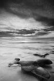 Seascaping in schwarzem N White-3 lizenzfreies stockbild