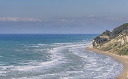 Seascpae de una orilla del norte de Corfú Fotografía de archivo