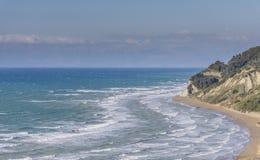 Seascape of a North Corfu shore.  Stock Photography