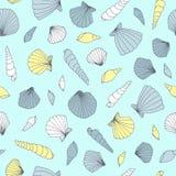 seashell картины безшовный Стоковая Фотография RF