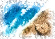 Seashell on the beach Royalty Free Stock Photos