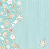 Seashell Beach party invitation Stock Photography