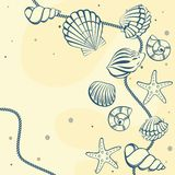 Seashell card Stock Photography
