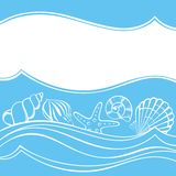 Seashell card Stock Images