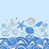 Seashell card Royalty Free Stock Photo