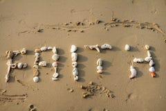 Seashell faith Stock Photo