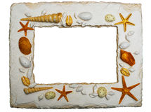 Seashell frame with clipping path Stock Images