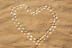 Seashell heart Royalty Free Stock Photography