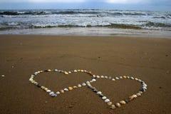 Seashell hearts Royalty Free Stock Images