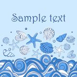 Seashell karta Obraz Royalty Free