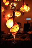Seashell lamps. Decorative lamps with light showing through translucent seashells Royalty Free Stock Images