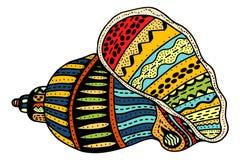 Seashell line art stock illustration