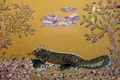Seashell mozaika iguana zdjęcie stock