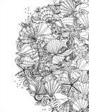 Seashell pattern art background Stock Photo