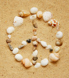Seashell Peace Sign Stock Photography