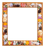 Seashell photo frame Royalty Free Stock Photography