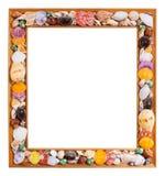 Seashell photo frame Royalty Free Stock Photography