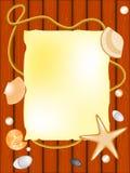 Seashell, pietra, seastar, documento illustrazione di stock