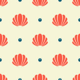 Seashell seamless pattern Stock Photo