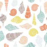 Seashell Seamless Pattern Stock Photography
