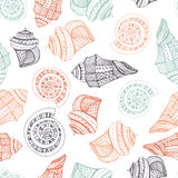 Seashell Seamless Pattern Royalty Free Stock Images