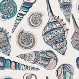 Seashell Seamless Pattern Stock Photos