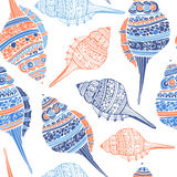 Seashell Seamless Pattern Stock Photography