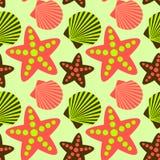 Seashell seamless pattern Stock Photo