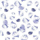 Seashell seamless pattern. Vector illustration Royalty Free Stock Image