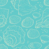 Seashell seamless Stock Photography