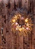 Seashell, starfish, heather and urchin wreath Royalty Free Stock Image