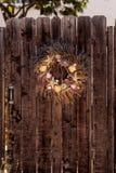 Seashell, starfish, heather and urchin wreath Stock Image