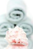 Seashell- und Badtücher Stockbild