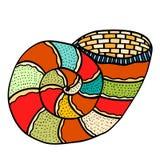 Seashell. Vector illustration. Stock Image