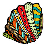 Seashell. Vector illustration. Royalty Free Stock Image
