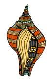 Seashell. Vector illustration. Royalty Free Stock Photo