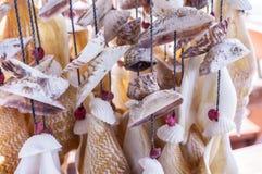 Seashell Windchime wisząca ozdoba Zdjęcia Royalty Free