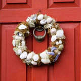 Seashell wreath Stock Images