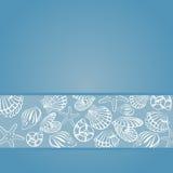 Seashellkarte Lizenzfreies Stockfoto