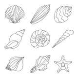 seashells τα εύκολα εικονίδια ανασκόπησης αντικαθιστούν το διαφανές διάνυσμα σκιών Στοκ φωτογραφίες με δικαίωμα ελεύθερης χρήσης
