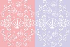 seashells картины безшовные Стоковое Изображение RF