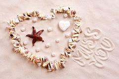seashells песка Стоковая Фотография RF