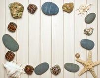 seashells фото рамки Стоковые Фотографии RF