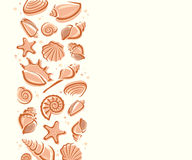 Seashells background. Vector Stock Image