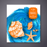 Seashells banner. Stock Image