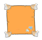 seashells del blocco per grafici della priorità bassa buoni Immagine Stock